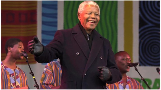 "Nelson Mandela…""Dancing to No-Music."""