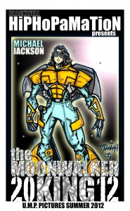 Michael Jackson as superhero by Manaah Blackwell