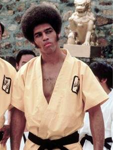 Jim Kelly, dressed for Enter The Dragon