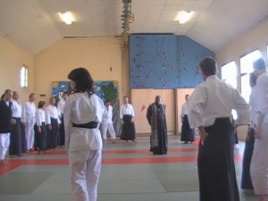 Kitabu Roshi at Aikido Montreux in Switzerland